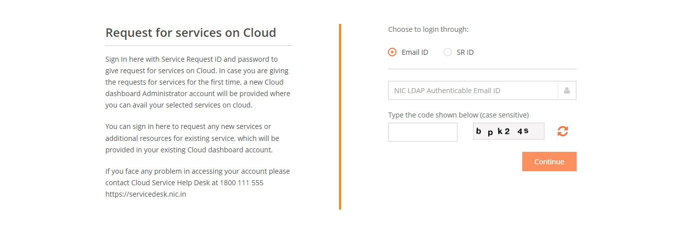 NICSI Cloud Services, Services Available on Cloud